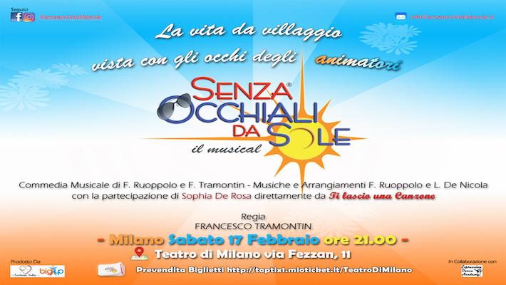 SENZA OCCHIALI DA SOLE - IL MUSICAL